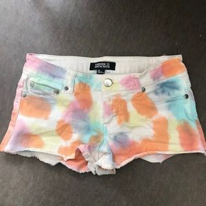 Forever 21 Rainbow Premium Denim Shorts XS